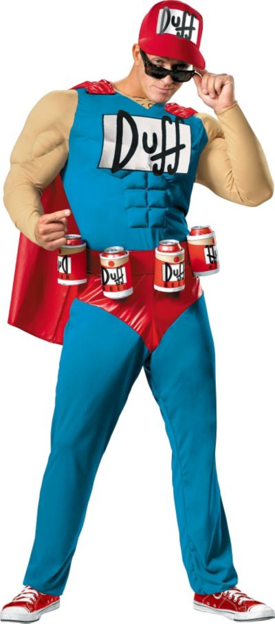Adult Duffman Costume Plus Size - The Simpsons