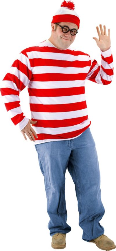 Adult Where's Waldo Costume Plus Size