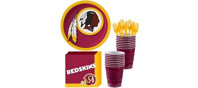 Washington Redskins Basic Party Kit for 18 Guests