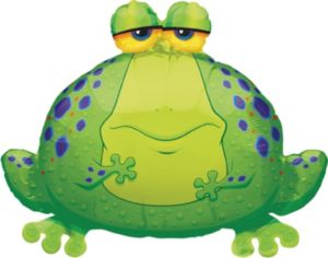 Foil Giant Bullfrog Balloon 30in