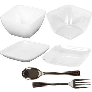 Mini Plastic Appetizer Set 96pc