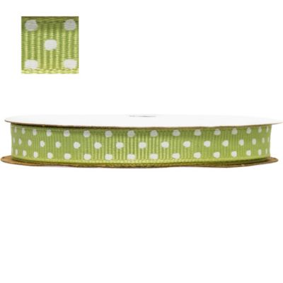 Leaf Green Polka Dot Ribbon