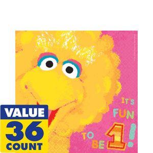 1st Birthday Big Bird Sesame Street Lunch Napkins 36ct