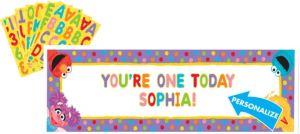 Sesame Street 1st Birthday Banner