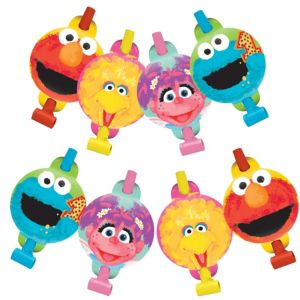 1st Birthday Sesame Street Blowouts 8ct