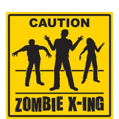 Zombie Crossing Sign