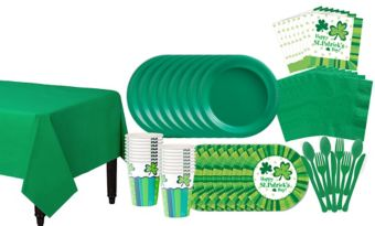St Patrick's Day Cheer Tableware Kit for 50 Guests