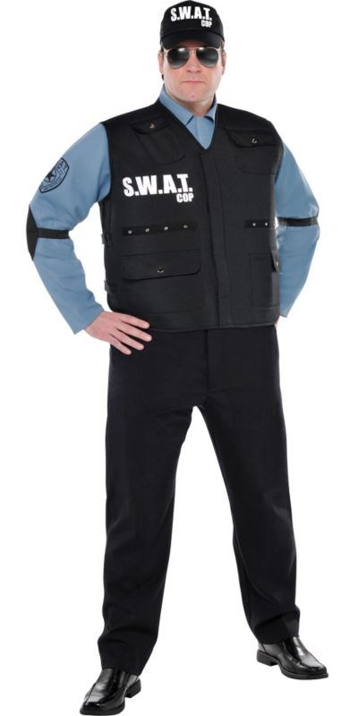 Adult SWAT Officer Costume Plus Size