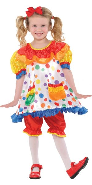 Girls Clown Girl Costume