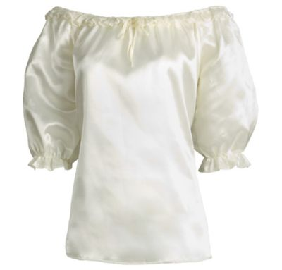 Adult Ivory Satin Pirate Blouse