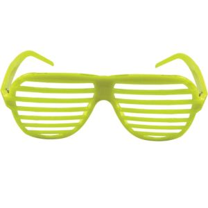 Neon Yellow Slotted Sunglasses