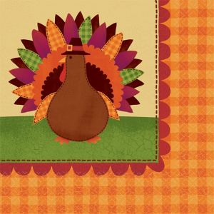 Turkey Dinner Napkins 16ct