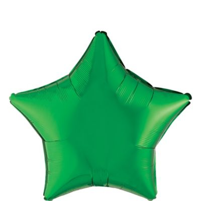 Festive Green Star Balloon