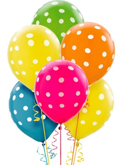 Polka Dot Balloons 20ct - Bright