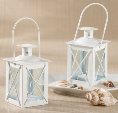 Mini White Lantern Candle Holder