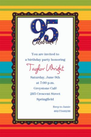 Custom A Year to Celebrate 95th Invitations