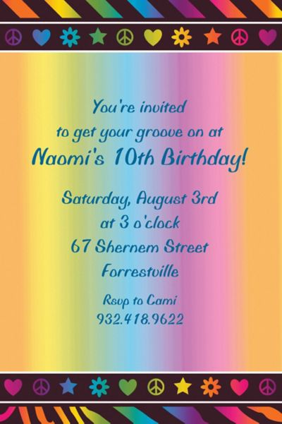 Custom Neon Birthday Girl Invitations