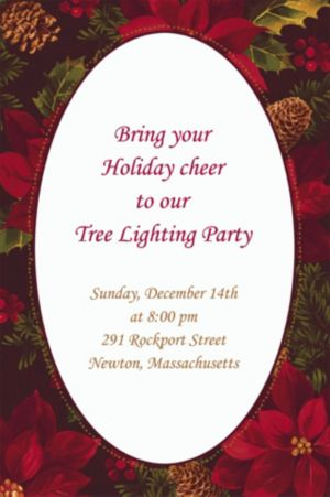 Custom Holiday Enchantment Invitations