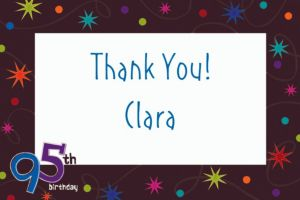 Custom The Party Continues 95th Thank You Notes