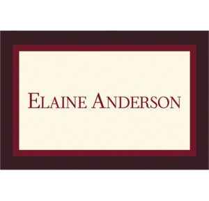 Custom Burgundy Austere Border Graduation Thank You Notes