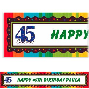Custom A Year to Celebrate 45th Banner 6ft