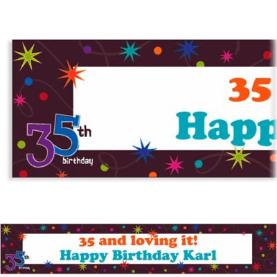 Custom The Party Continues 35th Birthday Banner 6ft