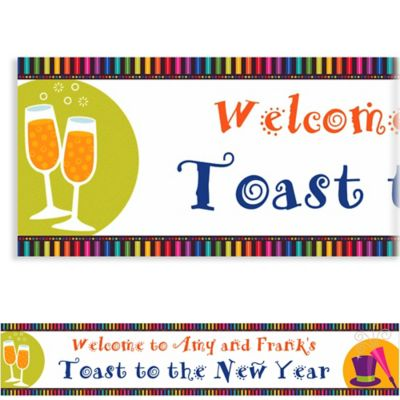 Custom Bright New Year New Year's Banner 6ft