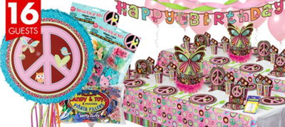 Hippie Chick Party Supplies Ultimate Party Kit