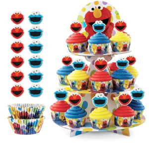 Deluxe Sesame Street Cupcake Kit for 24