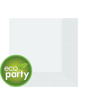 Eco White Lunch Napkins 125ct