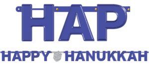 Happy Hanukkah Letter Banner