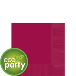 Eco-Friendly Raspberry Beverage Napkins 50ct