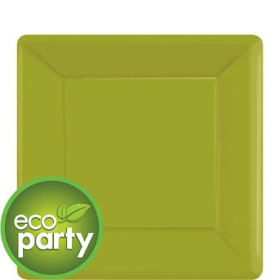 Eco Friendly Avocado Square Paper Dessert Plates 20ct