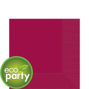 Eco-Friendly Raspberry Lunch Napkins 50ct