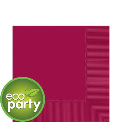 Eco Friendly Raspberry Lunch Napkins 50ct
