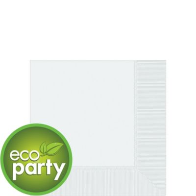 Eco White Beverage Napkins 125ct