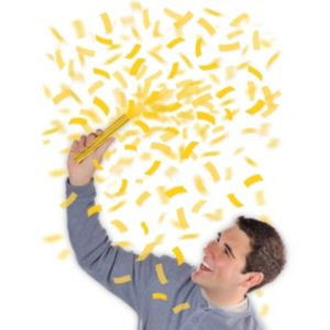 Sunshine Yellow Flutter Tissue Paper Confetti Wands 6ct