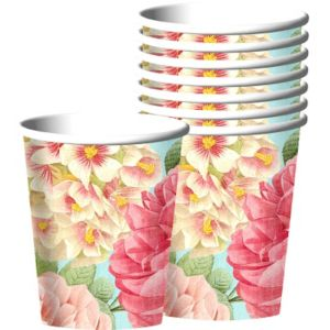 Blissful Blooms Paper Cups 18ct