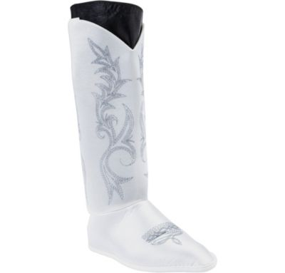 White Dallas Cowboy Cheerleaders Boot Tops