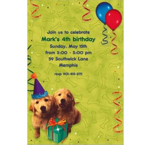 Custom Dogs Invitations