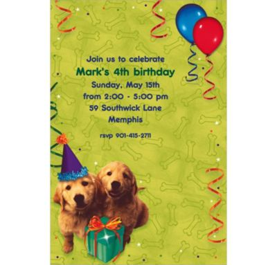 Dogs Custom Invitation
