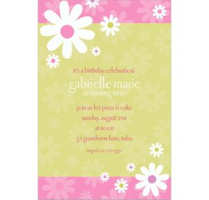 Custom Daisy Stripe Invitations