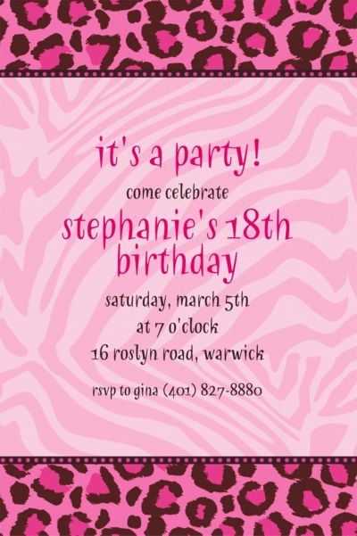 Custom Fashion Forward Invitations