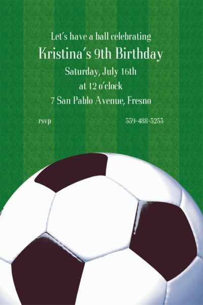Custom Soccer Fan Invitations