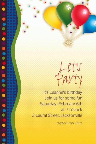 Custom Punchy Birthday Invitations