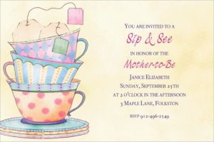Custom Tea Time Invitations