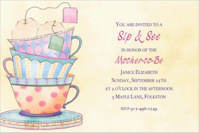 Tea Time Custom Invitation