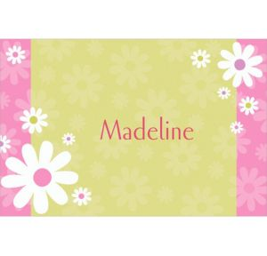 Custom Daisy Stripe Thank You Notes