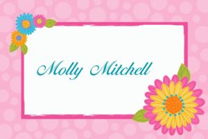 Custom Splashy Flower Thank You Notes