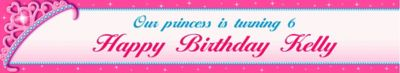 Custom Princess for a Day Banner 6ft